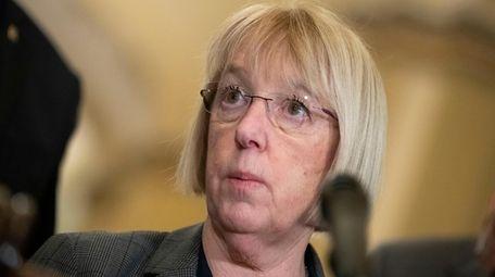 Sen. Patty Murray, D-Wash., speaks about the coronavirus
