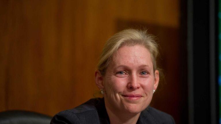 U.S. Sen. Kirsten Gillibrand choked up Thursday as