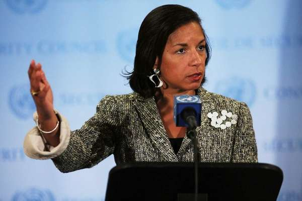 Ambassador to the United Nations Susan Rice addresses