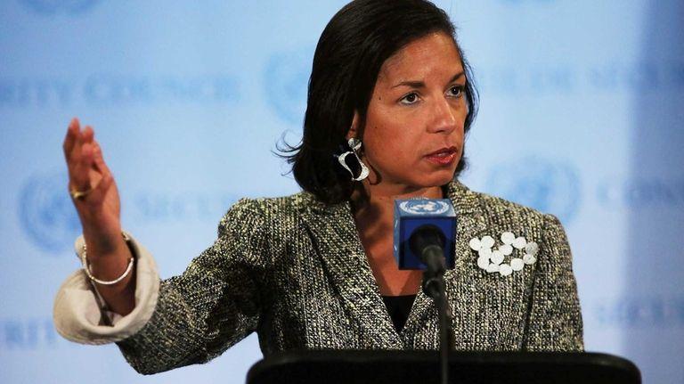 Ambassador to the United Nations Susan Rice addresses