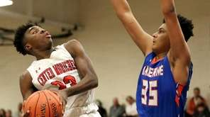 Center Moriches guard Ahkee Anderson hits the fade