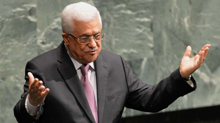 Palestinian Authority President Mahmoud Abbas, after speaking to