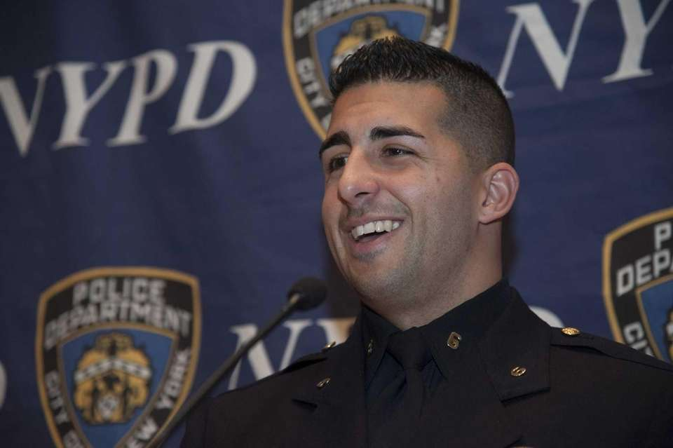 New York City Police Officer Larry DePrimo speaks