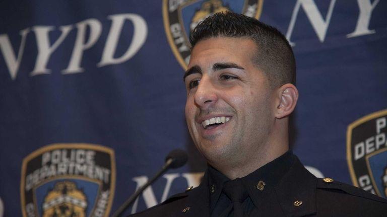 New York City Police Officer Larry DePrimo speaks