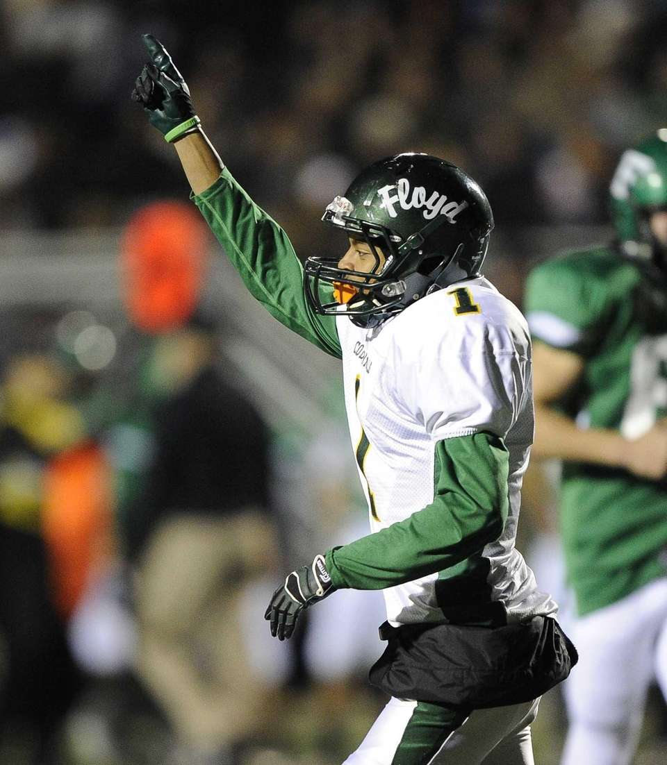 William Floyd's Vantrell Nash reacts after he scores