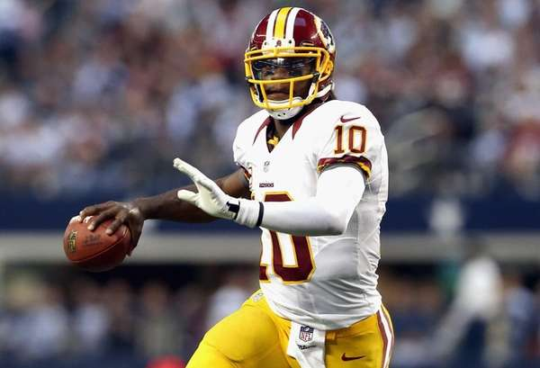 Washington Redskins Robert Griffin III throws the ball