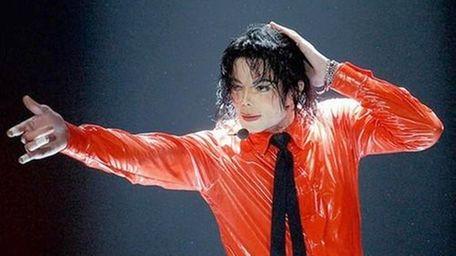 Michael Jackson performs in Pasadena, Calif., in an