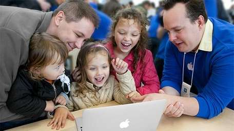 The remodeled Apple Store opens Dec. 1 at