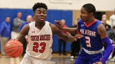 Center Moriches defeated Malverne in overtime, 94-90, in the