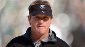 Former head coach of the Oakland Raiders Jon