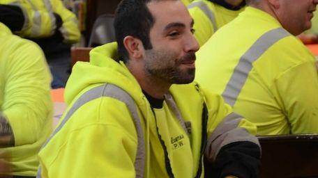 Joe Toscano, 33, of Baldwin, remembers working 17-hour