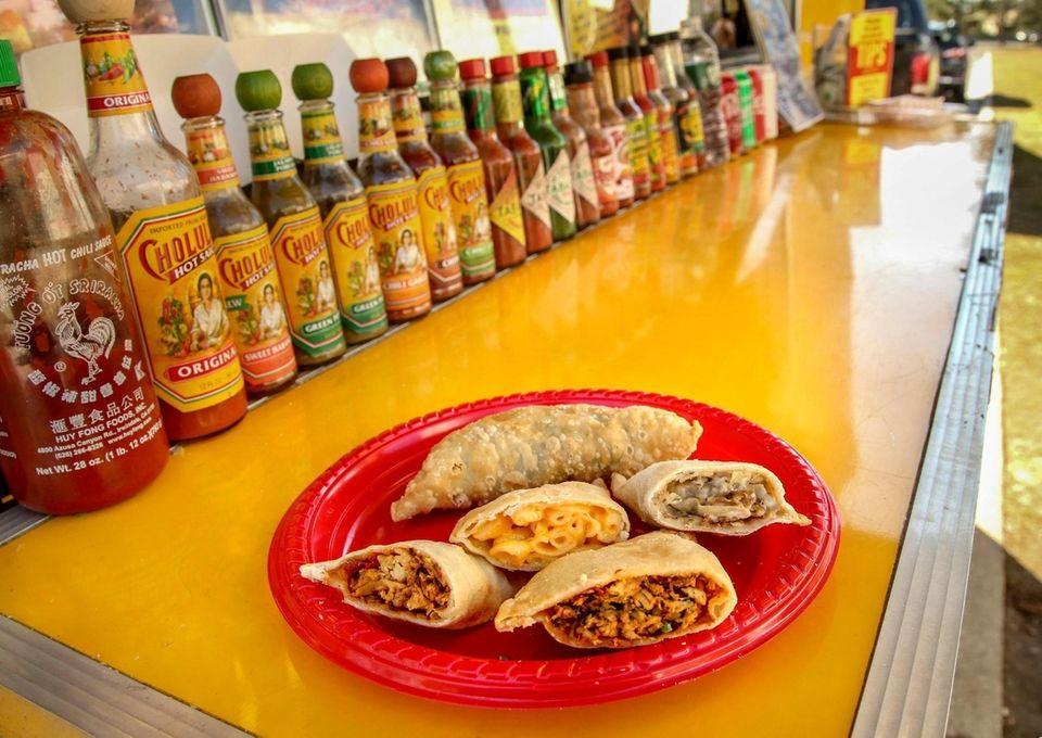 An assortment of empanadas from the Roadhouse Empanadas