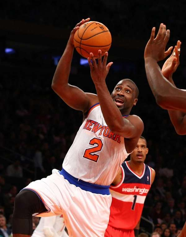 Raymond Felton of the New York Knicks goes