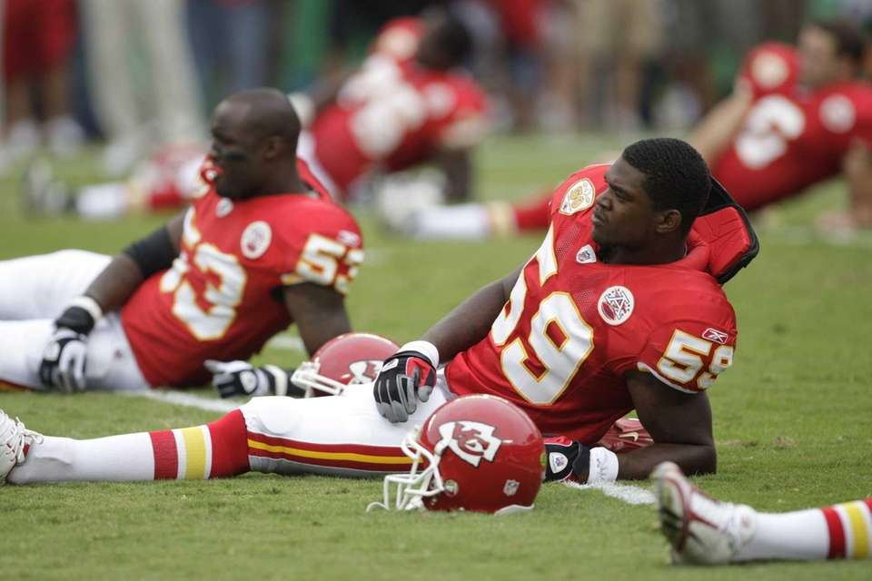 Jovan Belcher, #59 of the Kansas City Chiefs,