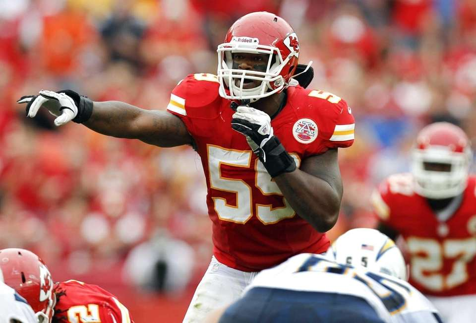 Kansas City Chiefs inside linebacker Jovan Belcher (59)