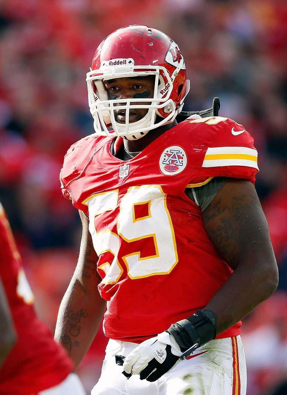 Jovan Belcher of the Kansas City Chiefs is
