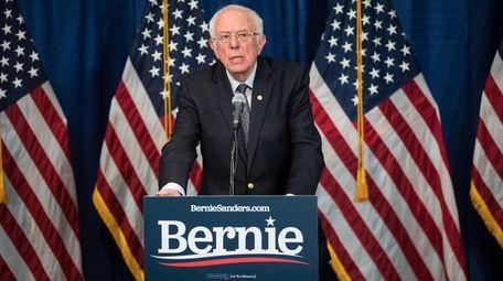 Democratic presidential candidate Sen. Bernie Sanders (I-VT) delivers
