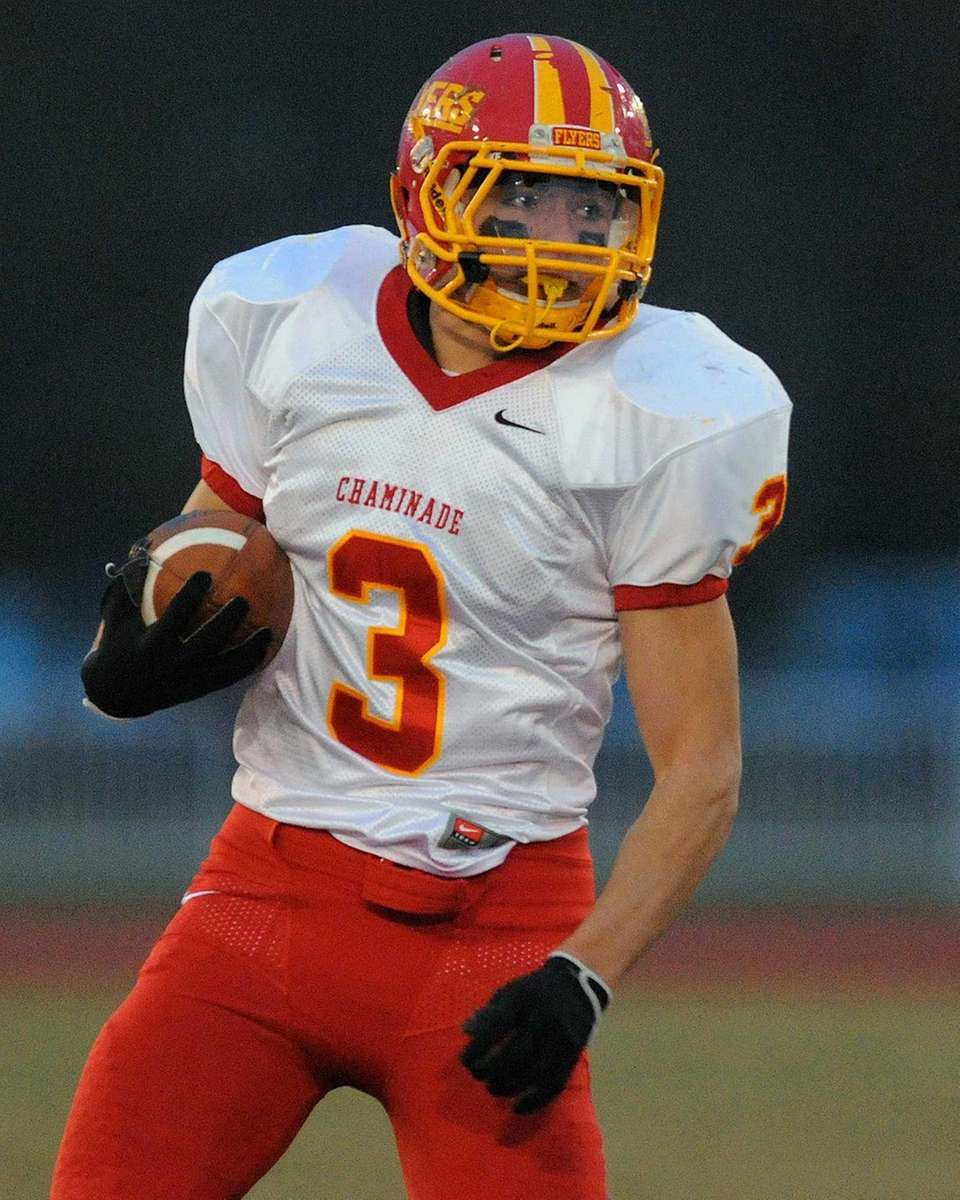Chaminade's Matt Correa runs upfield in the first