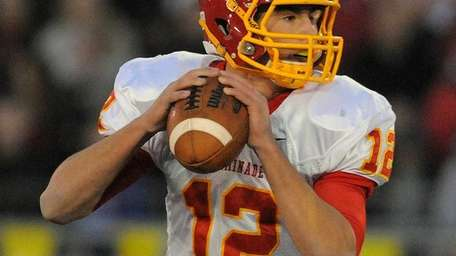 Chaminade quarterback Sean Cerrone looks to his right