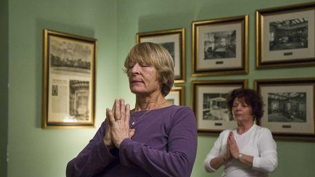 Judy McEvoy from Bellrose takes the Restorative Yoga