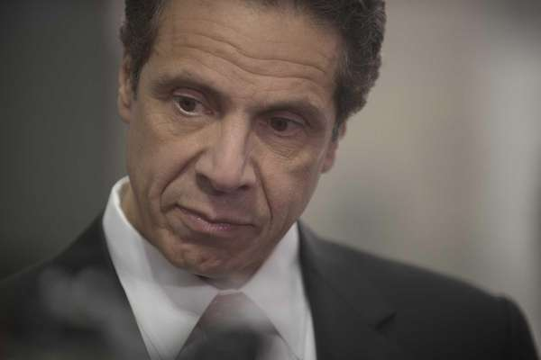 Gov. Andrew Cuomo speaks to the media at