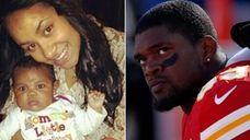 Left, an undated photo of Kasandra Michelle Perkins,