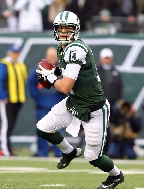Greg McElroy #14 of the New York Jets