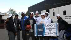 The Hofstra University men's basketball talks about qualifying