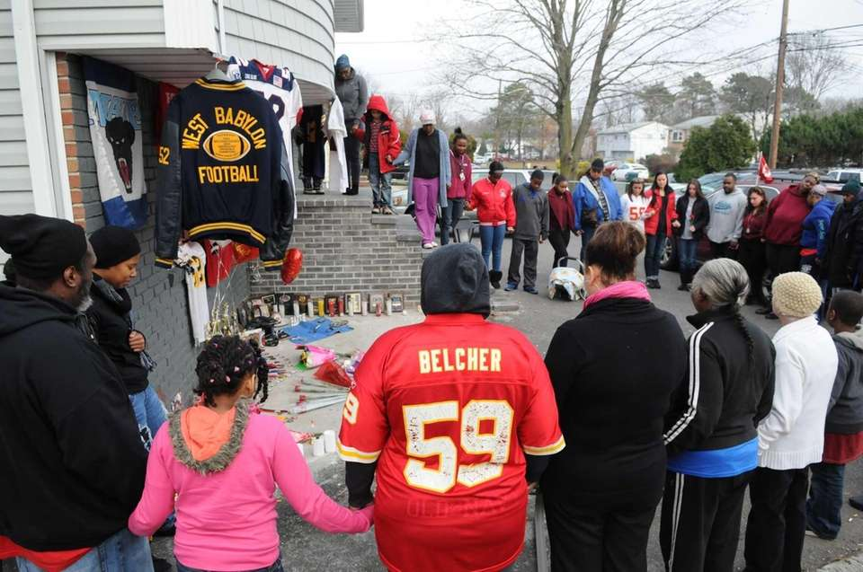 Friends and family of Jovan Belcher, who fatally