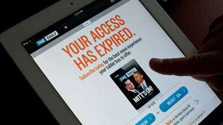The iPad newspaper The Daily. (Getty)