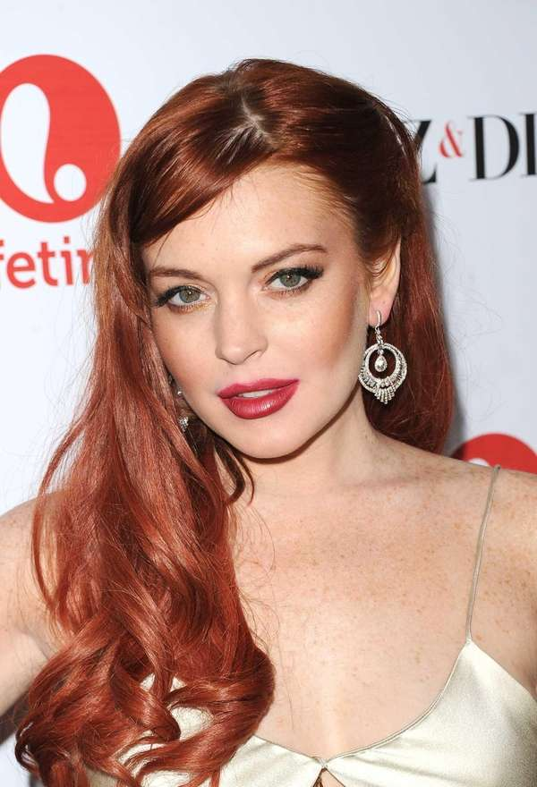 "Lindsay Lohan attends the premiere of Lifetime's ""Liz"