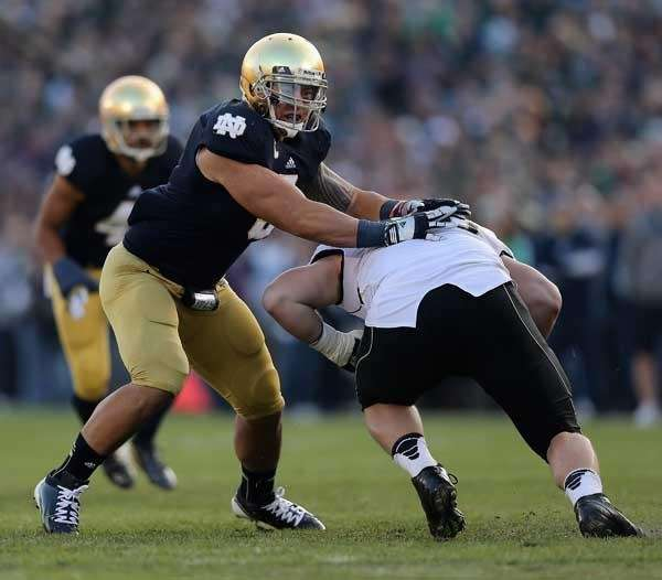 Manti T'eo #5 of Notre Dame Fighting Irish