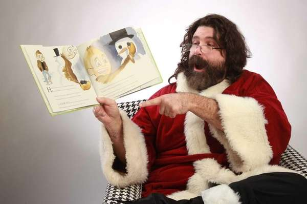 Pro-wrestler Mick Foley is shown with his children's