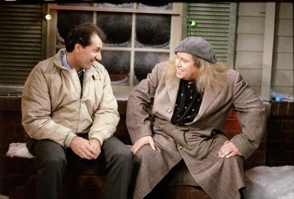 Ed O'Neill and Sam Kinison in a holiday