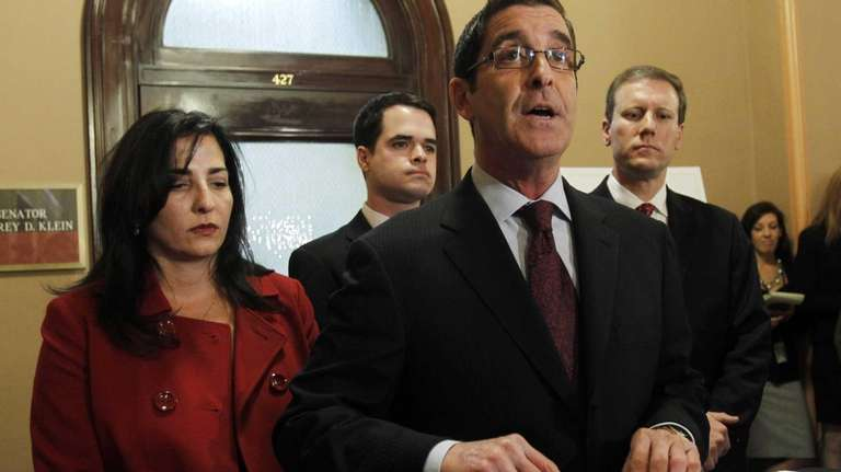 Sen. Jeffrey Klein speaks during a news conference