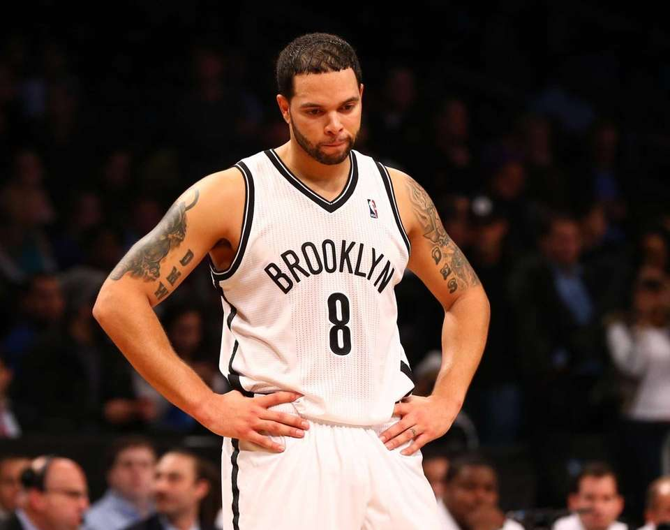 Deron Williams looks on late in the game