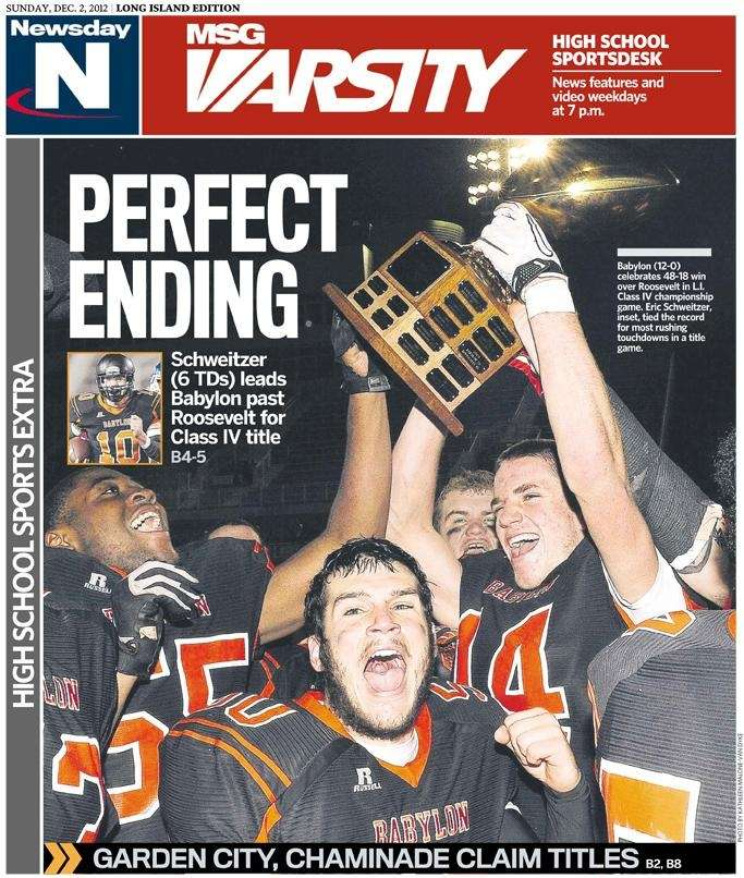 The Dec. 2, 2012 cover of Sunday's high