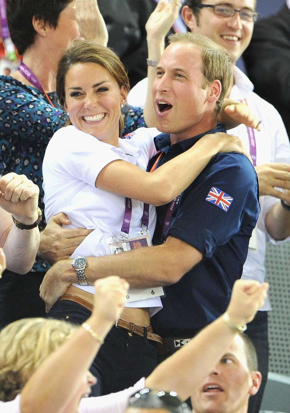 Catherine, Duchess of Cambridge, and Prince William during