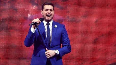 Singer-songwriter Michael Bublé performs Las Vegas on