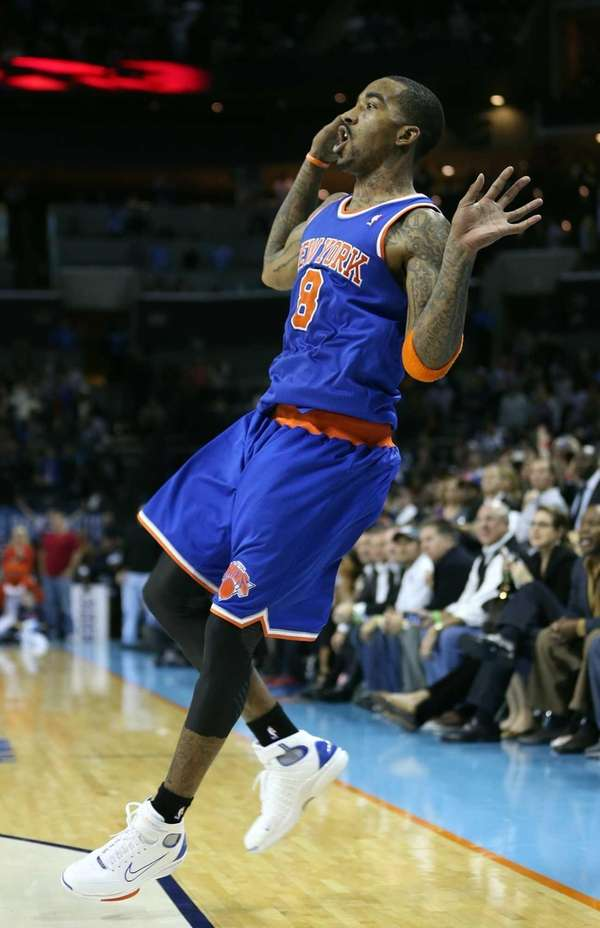 J.R. Smith reacts after shooting the game-winning shot
