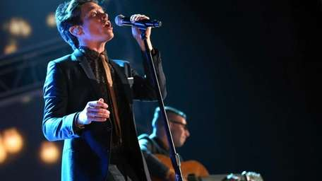 Fun. singer Nate Ruess during The Grammy Nominations