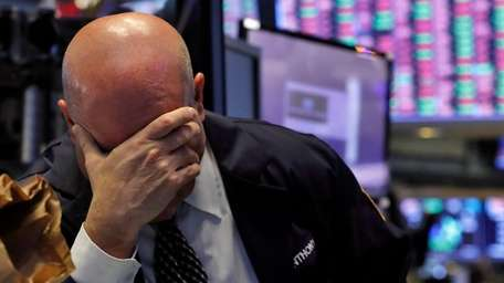 A trader reacts to the day's developments Thursday