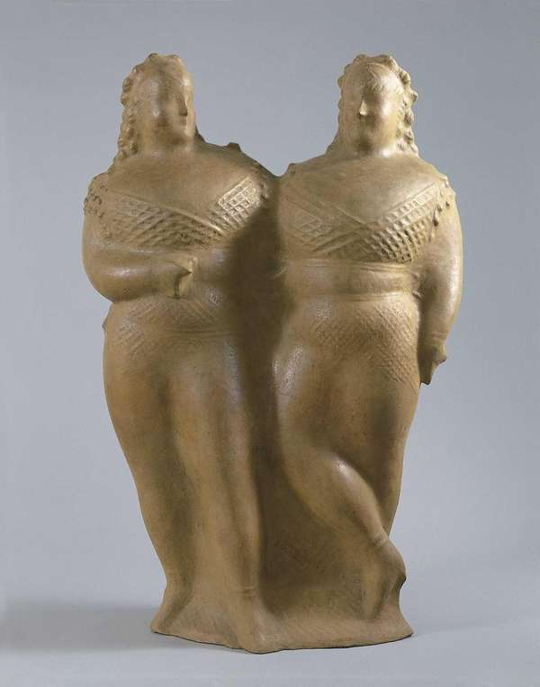 quot;Two Circus Womenquot; by Elie Nadelman (c. 1928-29)