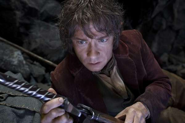 English-born Martin Freeman portrays Bilbo Baggins in