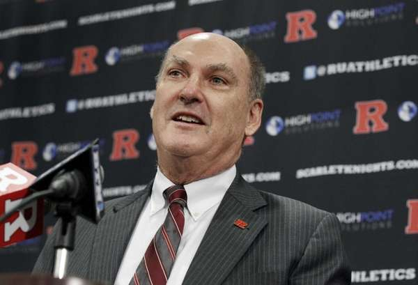 Big Ten commissioner Jim Delany answers a question