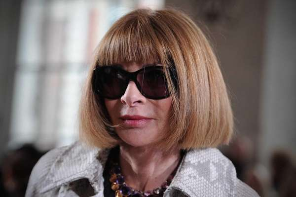 Anna Wintour, editor-in-Chief of American Vogue, attends the