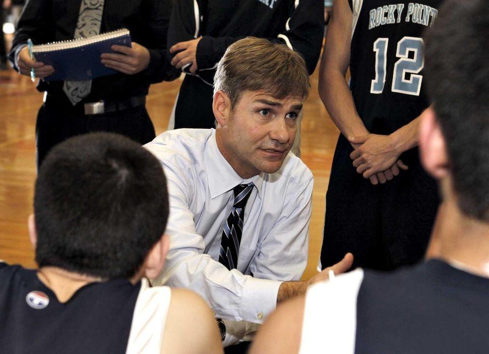 Rocky Point boys varsity basketball head coach James