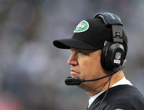 Rex Ryan looks on in the fourth quarter