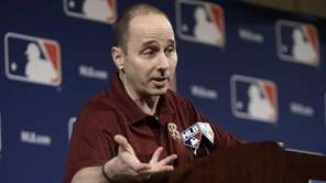 Brian Cashman answers questions concerning third baseman Alex