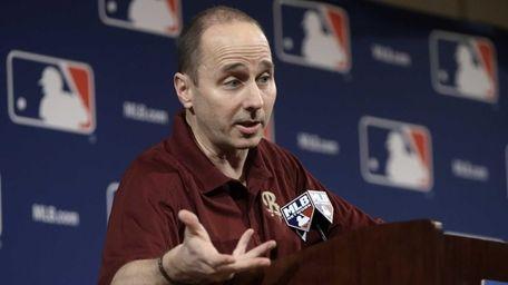 Brian Cashman answers questions concerning third baseman Alex